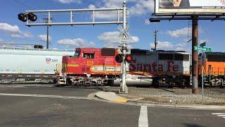 Union Pacific Manifest Meets BNSF Sac Local At 14th Avenue Railroad Crossing
