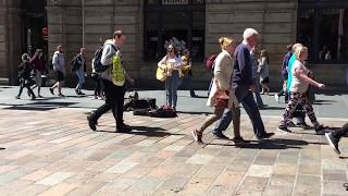 Cant Help Falling in Love by a Street Performer in Glasgow
