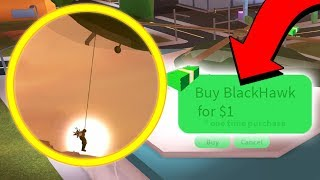NEW ARMY HELICOPTER ROPE FREE NOW!! *Missiles* Roblox Jailbreak Update
