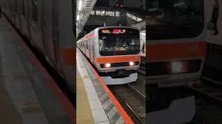 JR東日本209系むさしの号 八王子駅発車