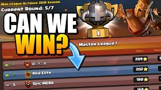 FIRST Clan War League at RED ELITE - Can We Win? Clash of Clans CWL Update!