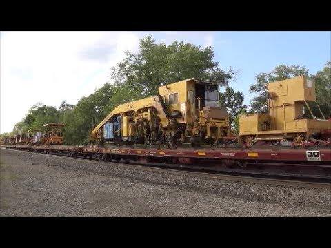 BNSF MOL train and MoW train at Agency, Iowa