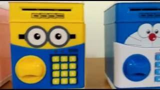 Cartoon Mini ATM Password Piggy Bank Autofeed Cash (SSZL6607)