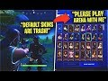 Kid BULLIES me for being a DEFAULT, Then Showed my REAL LOCKER... - Fortnite
