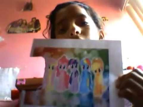 les enseño a hacer sus muñecos de carton my little poni - YouTube