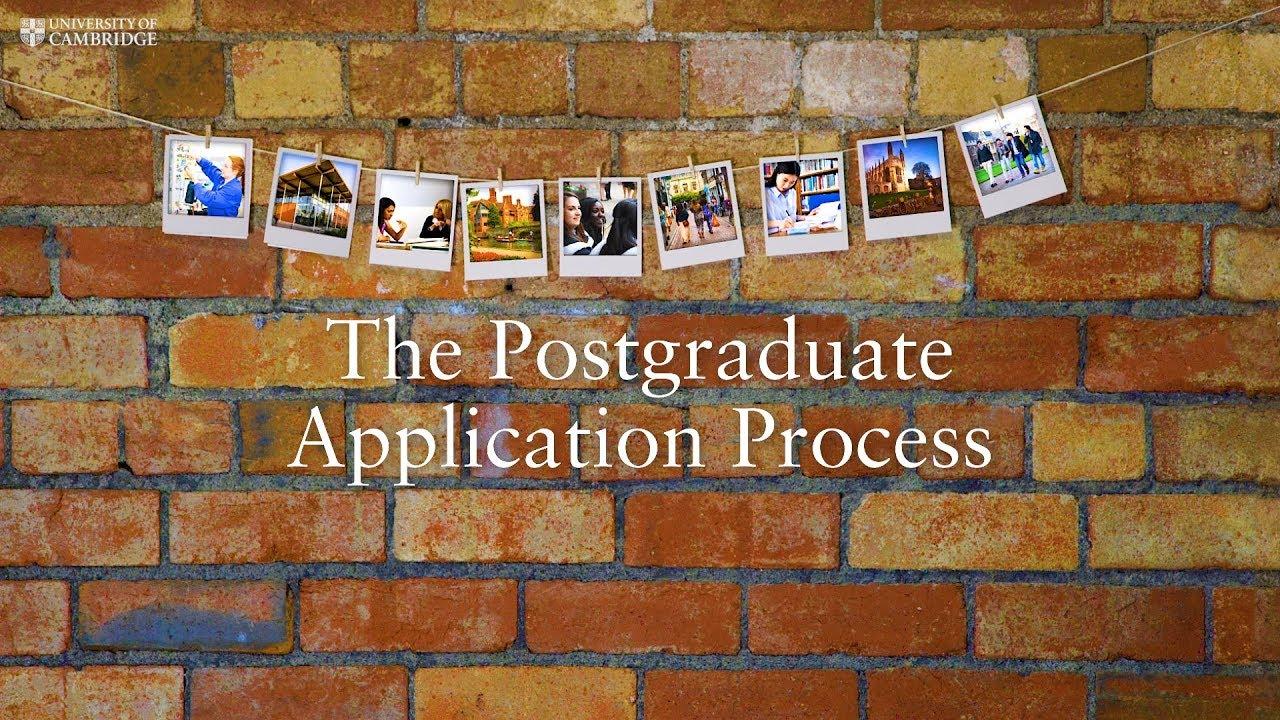The Postgraduate Application Process at Cambridge