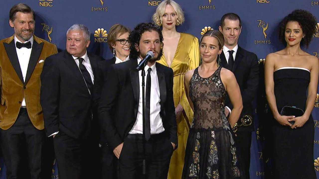 Emmys 2018: Game of Thrones Cast Backstage (Full Press ...