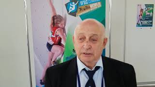 Смотреть видео Почетный член IFSC, почетный президент Федерации скалолазания России Александр Пиратинский онлайн