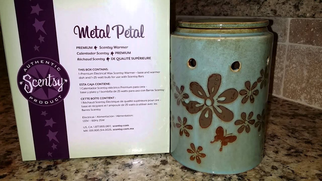 Metal Petal Scentsy Warmer Review Youtube