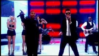 Repeat youtube video Robin Thicke - Blurred Lines ft. T.I. & Pharrell (Live Graham Norton Show)