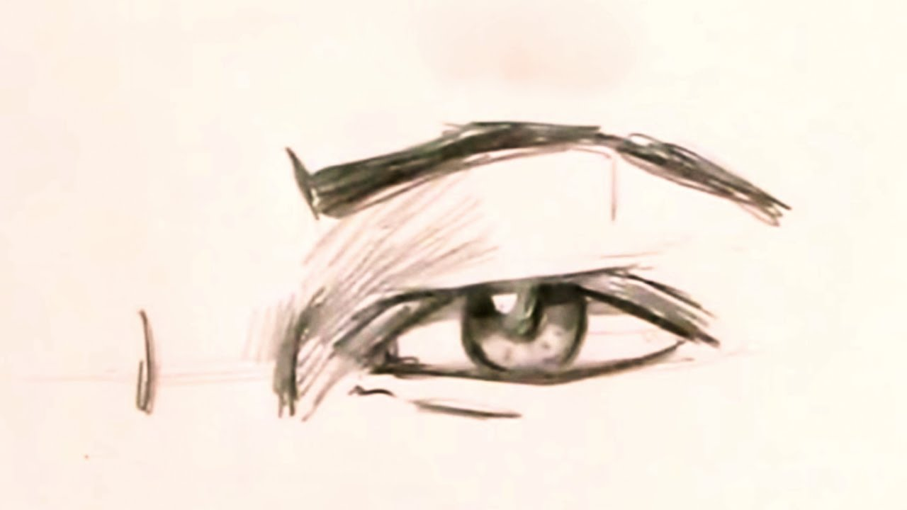It is an image of Dramatic Men Eyes Drawing