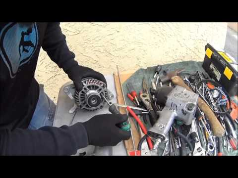 HOW TO TEST A BAD ALTERNATOR WITH A SCREW DRIVER AND VOLTAGE METER. (((SAVE MONEY))) AND DIY