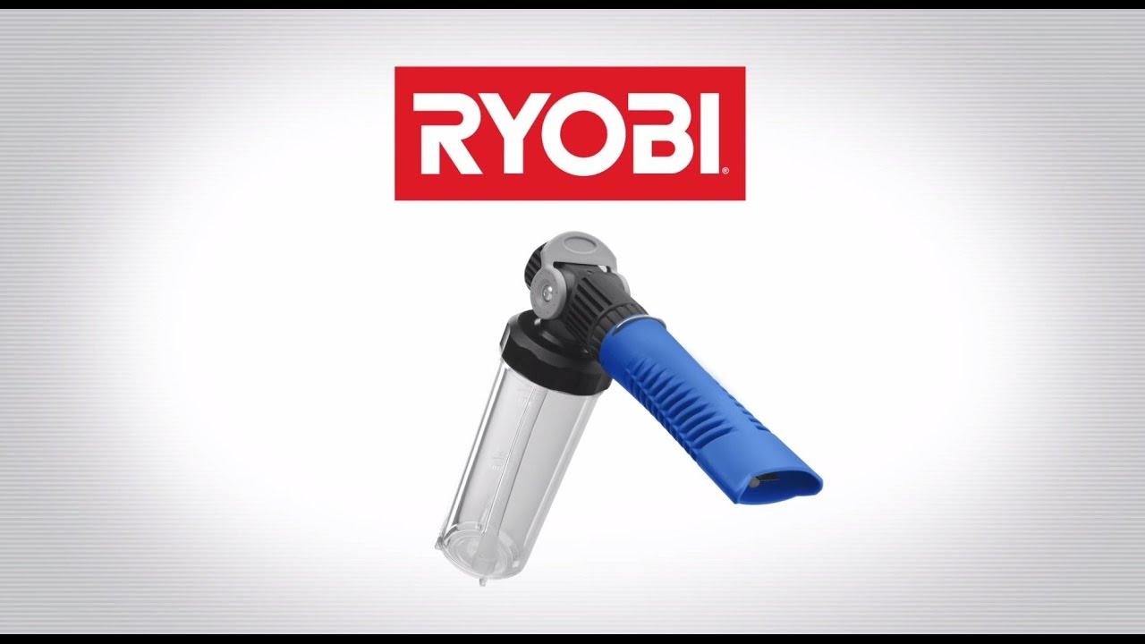 Ryobi Pressure Washer Foam Blaster Youtube