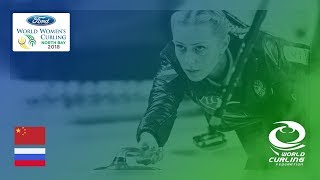 China v Russia - Round-robin - Ford World Women's Curling Championships 2018