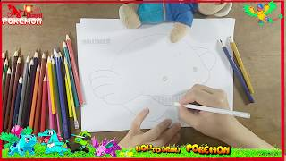 How to Draw Wailmer pokemon Happy Meal Coloring Pages | Kids Learn Drawing | Art Colors Children