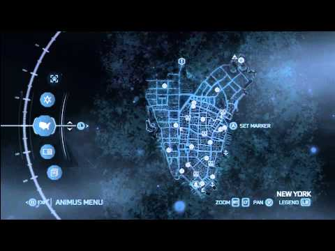 Ac3 Map Of Fast Travel Locations New York Youtube