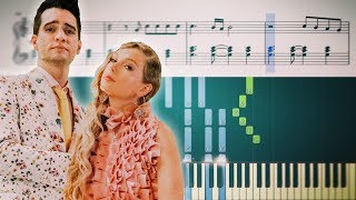 Taylor Swift - ME! (feat. Brendon Urie of Panic! At The Disco) - Piano Tutorial + SHEETS