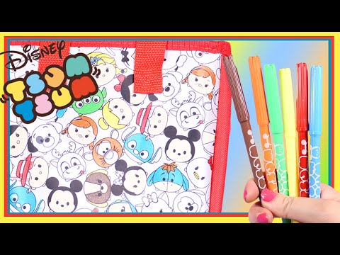Disney Tsum Tsum Colour Your Own Totabag with 6 Markers!