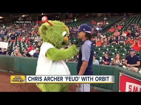 Rays pitcher Chris Archer issues declaration of unfriendliness against Astros mascot Orbit