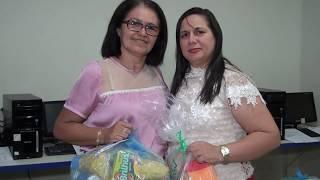 Diretores Márcio Lopes e Iraniza Lima receberam kits de manutenção das Escolas