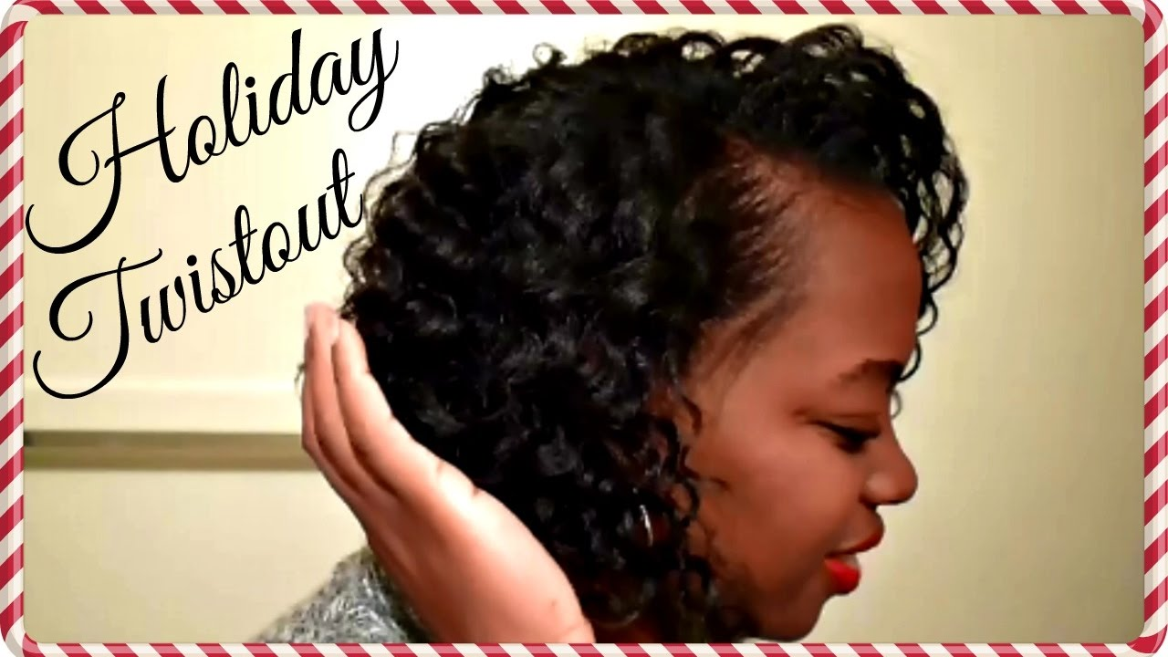 FLAT TWISTOUT ON WET RELAXED HAIR | HOLIDAY CURLS - YouTube