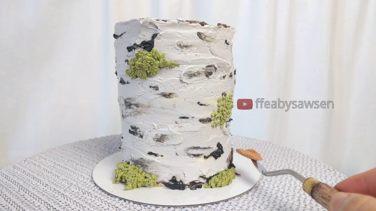 Preview Buttercream Birch Tree Stump Cake Tutorial Coming Soon