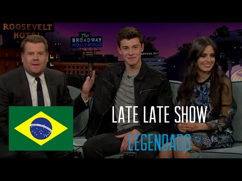 Shawn Mendes e Camila Cabello no Late Late...