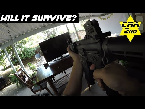 Will It Survive? KWA Professional Gas Blowback Airsoft Training Rifle VS Flatscreen TV LM4c ptr