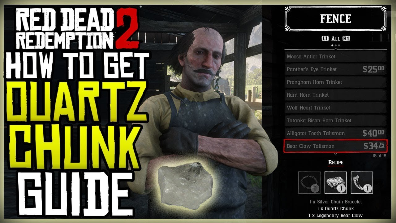 How To Get The Quartz Chunk For Bear Claw Talisman Red Dead Redemption 2