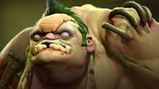 Dota 2 Pudge offlane trick - 0 miss hook + rage quit