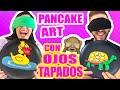 DIBUJANDO CON IDA CON LOS OJOS CERRADOS! RETO Pancake Art Challenge ft ArteMaster