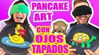 DIBUJANDO CON COMIDA CON LOS OJOS CERRADOS! RETO Pancake Art Challenge ft ArteMaster