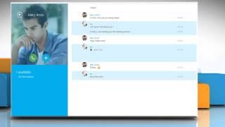 Add contacts you frequently talk favorites list in Skype® on Windows® 8.1 PC