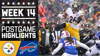 Steelers vs. Bills | NFL Week 14 Game Highlights