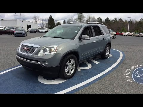 2008 GMC Acadia Asheboro, Greensboro, Troy, Siler City, Triad, NC P4852A