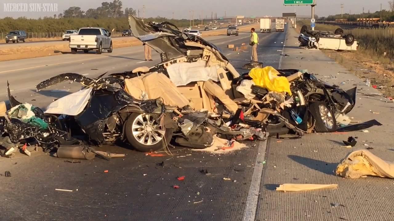 Two Killed In Highway 99 Crash Near Livingston Youtube