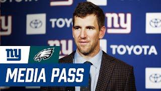 Eli Manning reacts to Giants vs. Eagles overtime loss; Coach Pat Shurmur and Darius Slayton