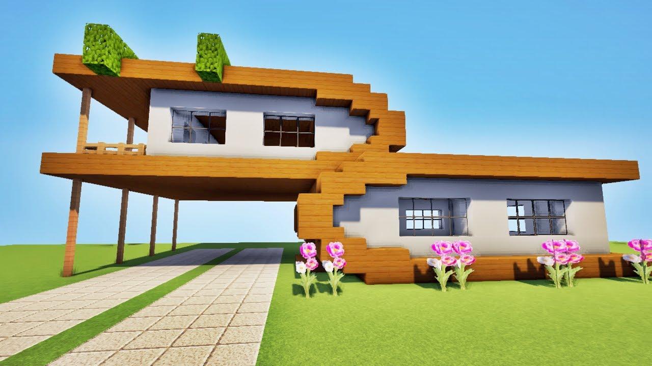 Tuto Maison Ultra Moderne Sur Minecraft Youtube