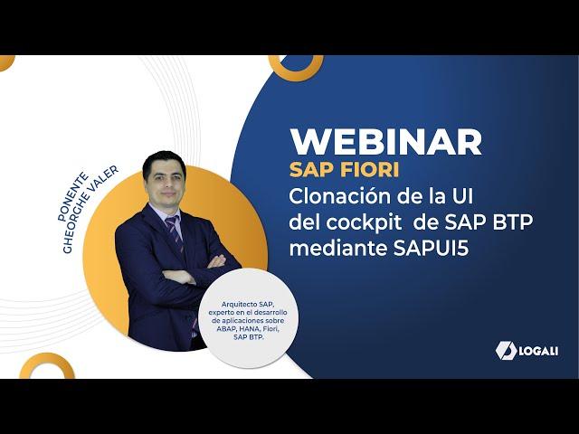 Webinar SAP FIORI - Clonación de la UI del Cockpit de SAP BTP mediante SAPUI5