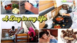 A Day in my life||breakfast, lunch,n dinner preperation|cake making|cleaning|vlog|full day|shadiya|