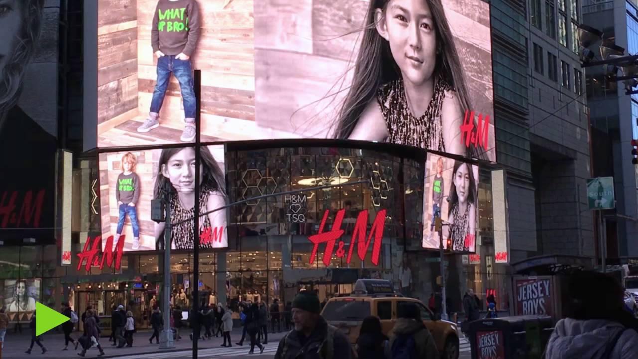H&M NYC Storefront Digital Signage - YouTube