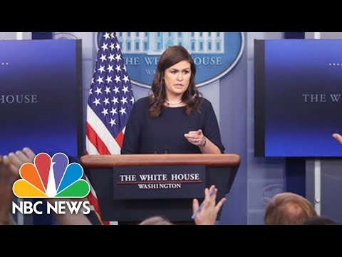 White House Press Briefing Following Anthony Scaramucci Exit | NBC News