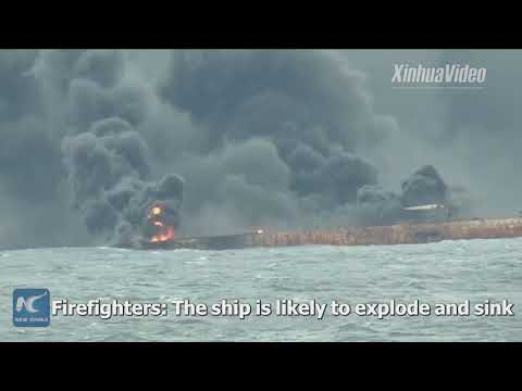 Oil tanker continues burning days after collision off Shanghai, rescue underway