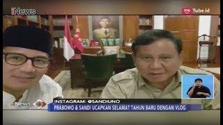 Ucapkan Selamat Tahun Baru Lewat Vlog, Ini Pesan Prabowo dan Sandi di 2019 - iNews Siang 01/01