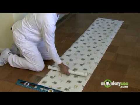 Measuring and Cutting the Wallpaper