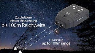 Bresser digitales Nachtsichtgerät 3x14 mm mit Aufnahmefunktion, zuschaltbarer Infrarot Beleuchtung m