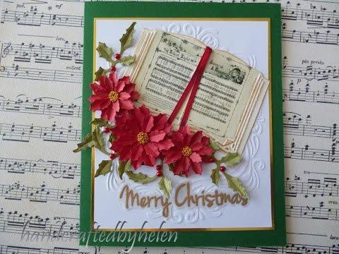 Christmas music book card
