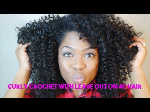Curly Crochet With Leave Out On 4c Hair Youtube