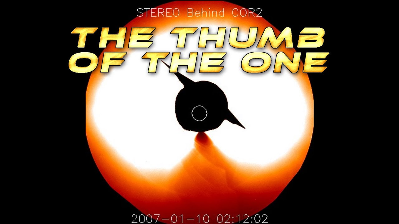 The Thumb of the One on Nasa Stereo Behind Cor2 before the Star Wars ...