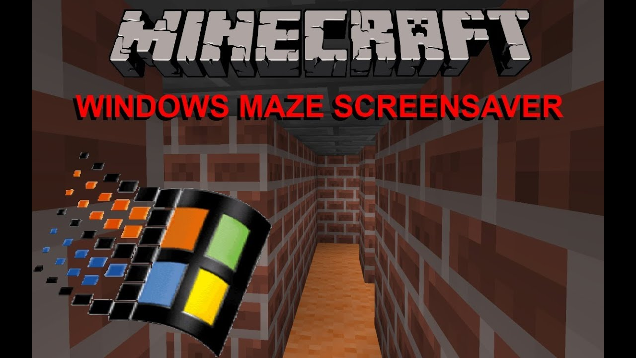 3d Image Live Wallpaper Free Download Windows 3d Maze Screensaver In Minecraft Youtube